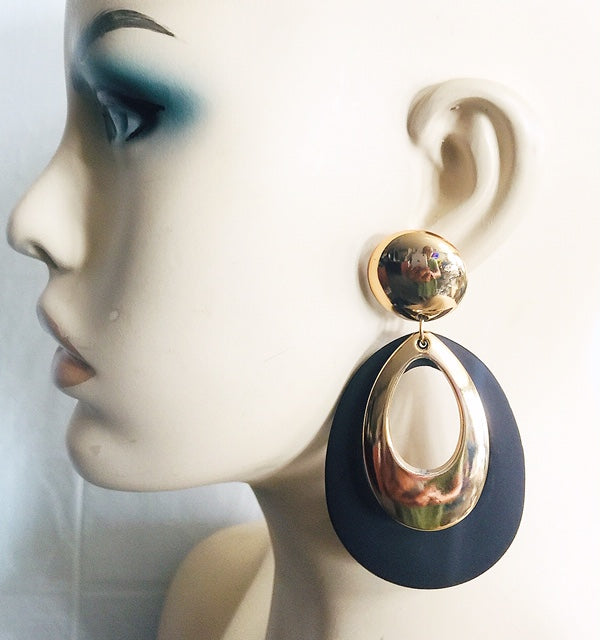 Double Loop Wood Earring