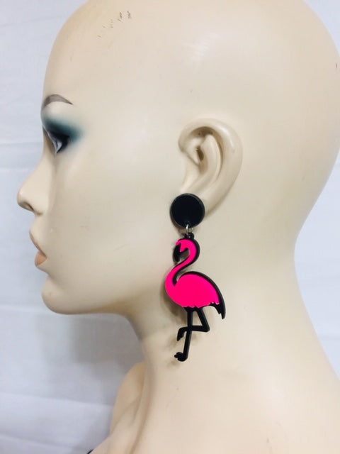 Pink Bird Fashion Earrings