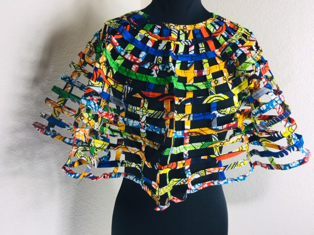 Kofi Large Cape Fabric Necklace