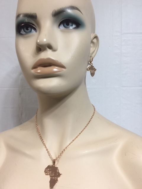 Chain African pendant & Earrings Necklaces