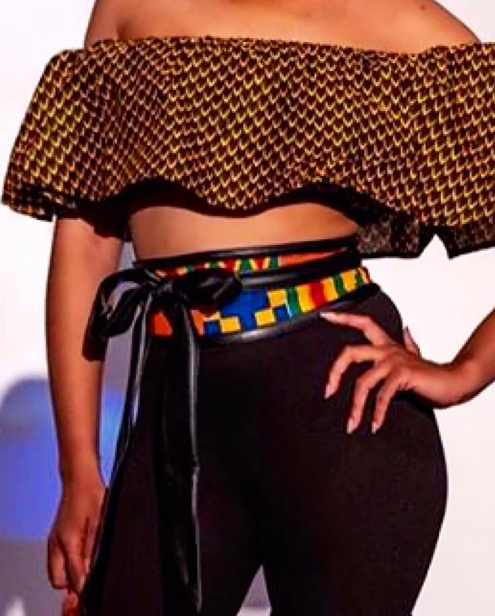Zuhrah Kente Waist Belt