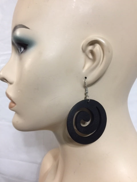Coil Wood Earrings