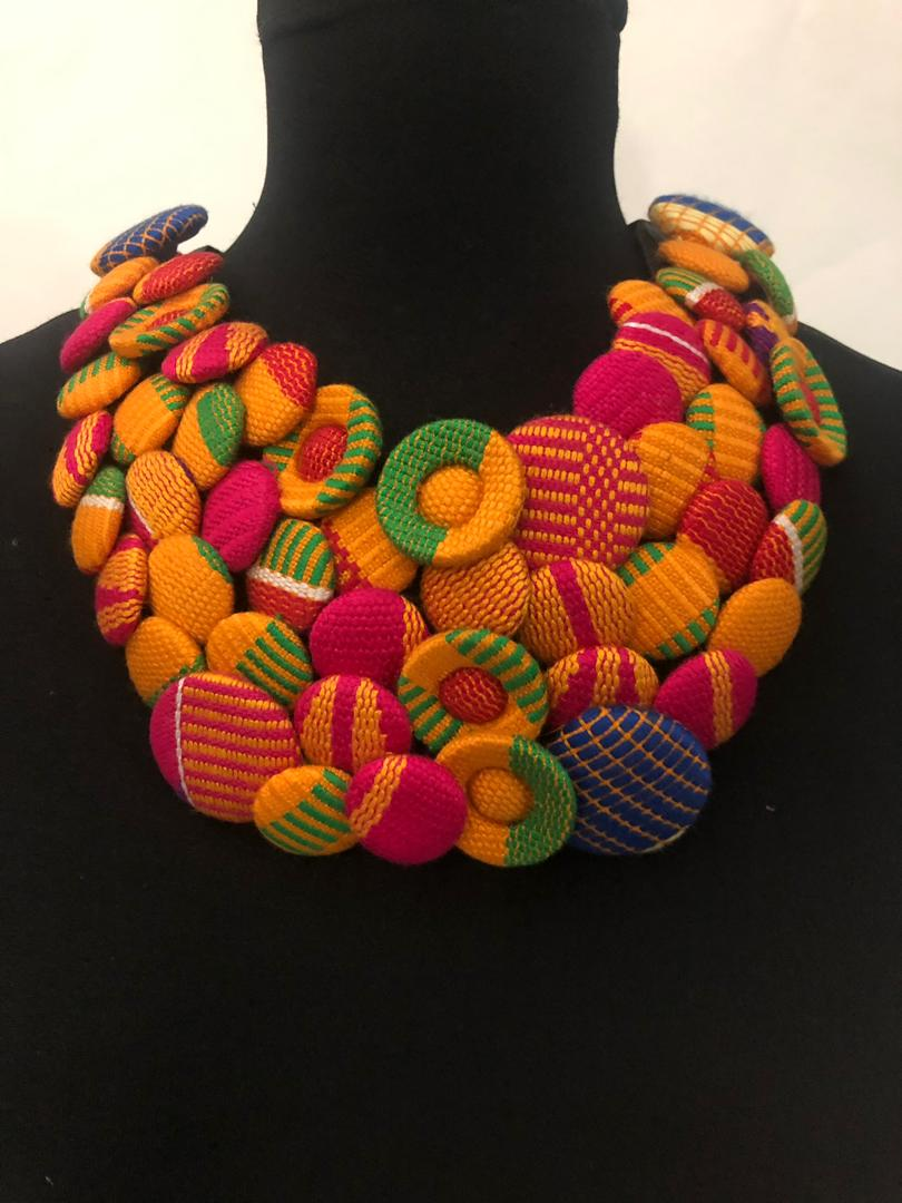 Kente African Necklace