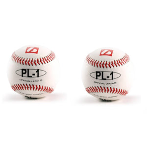 "PL-1 Elite match baseball, Size 9"" White, 2 pièces"