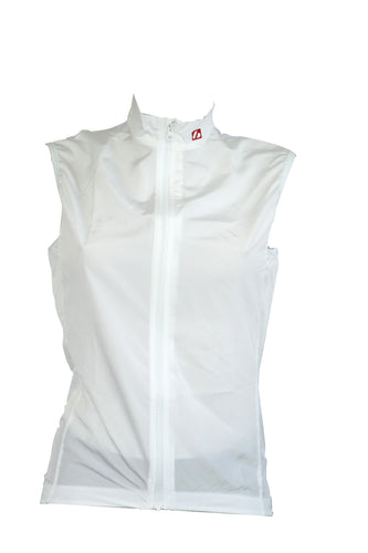 WJW-01 WHITE - GILET COUPE-VENT SANS MANCHES