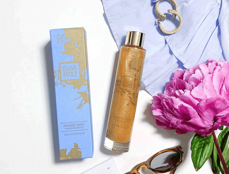 Ready, Set…Glow! Guava & Gold Paradise Found Shimmering Body Oil