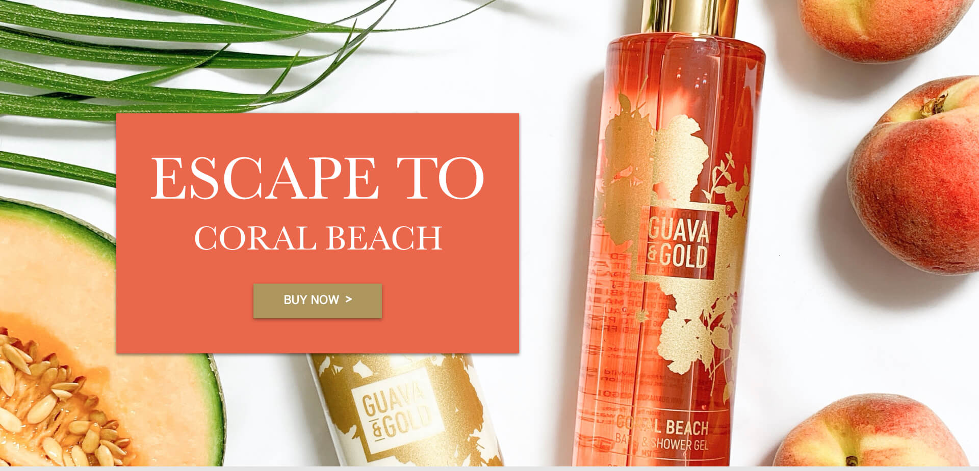 Coral Beach Collection Guava & Gold