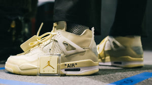 Off-White x Air Jordan 4 And how they work with Sneak Defender premium trainer cleaning products