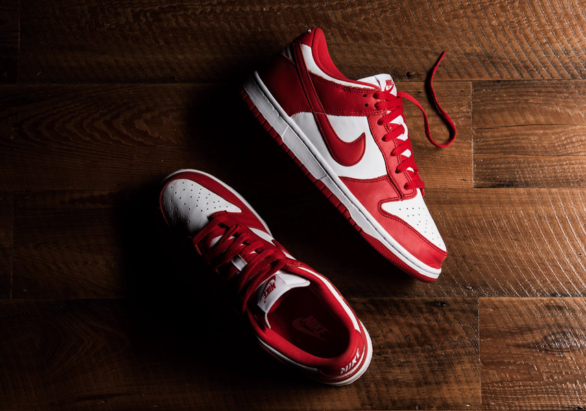 "Nike Dunk Low SP ""University Red""And how they work with Sneak Defender premium trainer cleaning products"