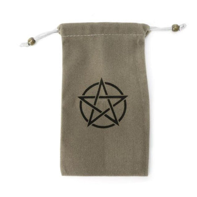 Velvet Pentagram Tarot Bag Tarot Cards MoonChildWorld gray