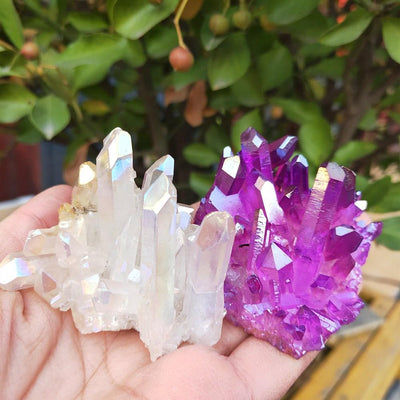Purple and colorful Natural crystal quartz Natural Stones MoonChildWorld