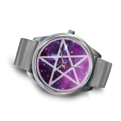 Pentacle wicca watch Silver Watch wc-fulfillment
