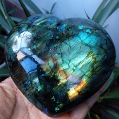 Labradorite Heart Quartz Crystal Natural Stones MoonChildWorld