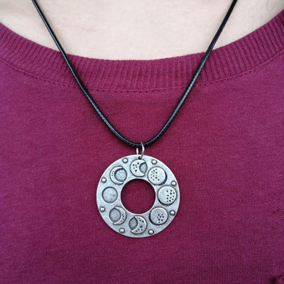 Wicca moon phase necklace Necklace MoonChildWorld 01