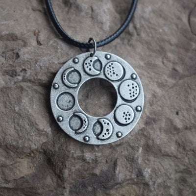 Wicca moon phase necklace Necklace MoonChildWorld