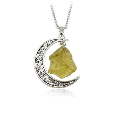Wicca Moon Natural Stone Necklace Necklace MoonChildWorld style1