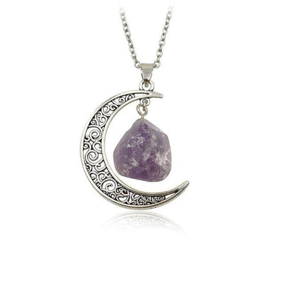 Wicca Moon Natural Stone Necklace Necklace MoonChildWorld style2