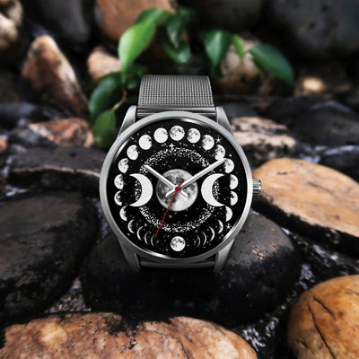 Triple moon wicca watch Silver Watch wc-fulfillment