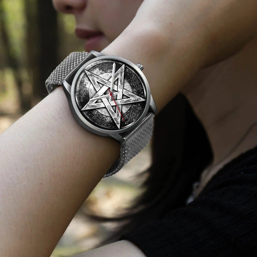 Pentagram wicca watch