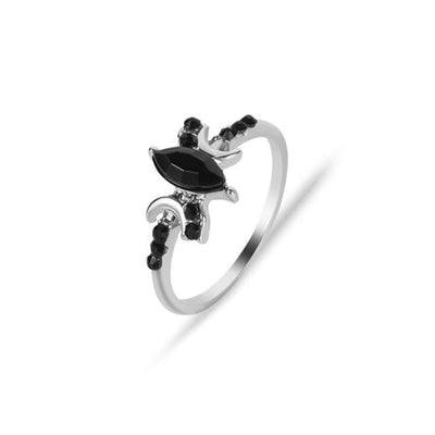 Triple moon Moonstone Ring Ring MoonChildWorld 10 black ring