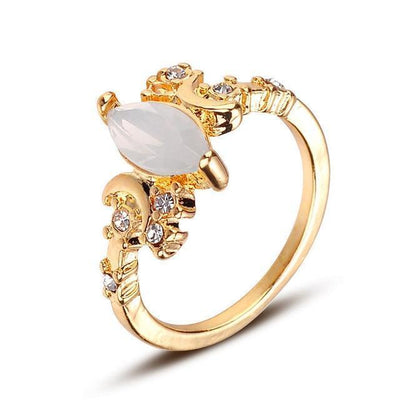 Triple moon Moonstone Ring Ring MoonChildWorld 10 gold ring