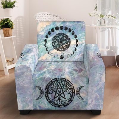 "Wicca Chair Slip Cover Chair Slip Cover MoonChildWorld Slip Cover - Colorful 43"" Chair"