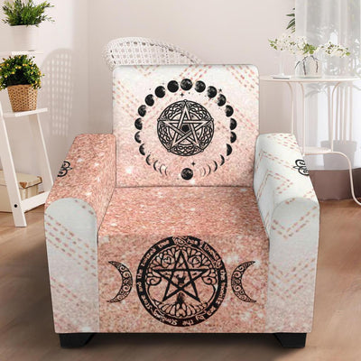 "Wicca Chair Slip Cover Chair Slip Cover MoonChildWorld Slip Cover - Pink 43"" Chair"