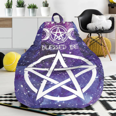 Pentagram wicca Bean Bag Chair Bean Bag Chair MoonChildWorld