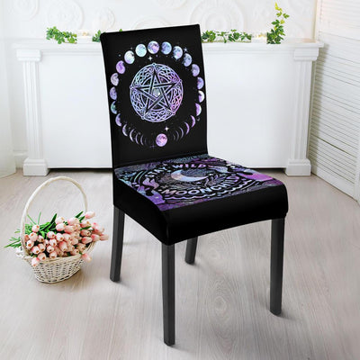 Wicca Dining Chair Slip Cover Chair Slip Cover MoonChildWorld