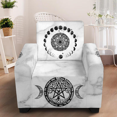 "Wicca Chair Slip Cover Chair Slip Cover MoonChildWorld Slip Cover - White 43"" Chair"