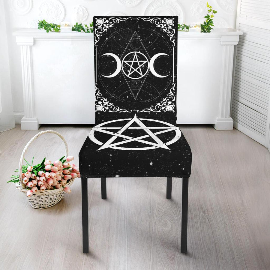 Wicca Dining Chair Slip Cover Chair Slip Cover MoonChildWorld Slip Cover - Black Dining Chair