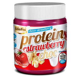 Protein Strawberry white choc Life pro 250g