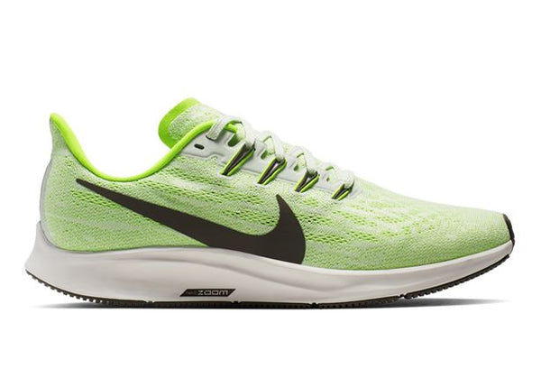 NIKE AIR ZOOM PEGASUS 36 MENS PHANTOM RIDGEROCK-ELECTRIC GREEN
