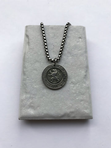 Vintage Belgium Coin Necklace