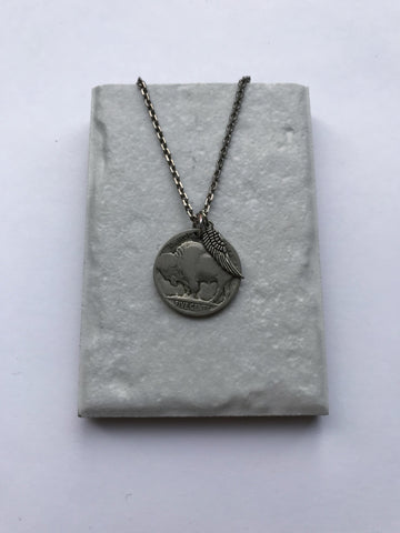 Vintage Buffalo Nickel Necklace