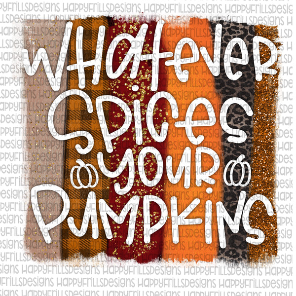 Whatever spices your pumpkins