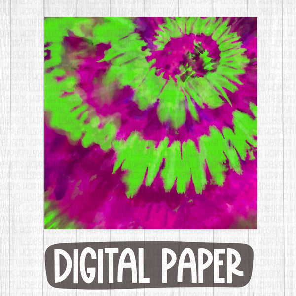 Fuchsia/ Green Halloween tie dye digital paper