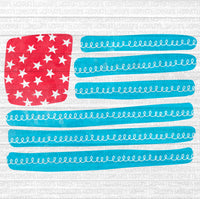 Doodle American Flag