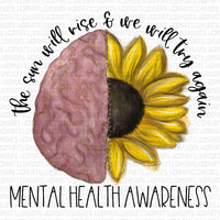 Mental Health Awareness with sunflower