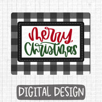 Merry Christmas With Buffalo Plaid