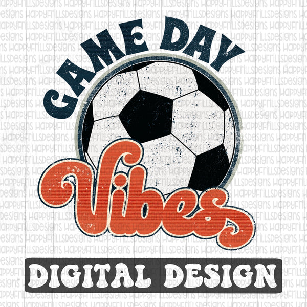 Game day vibes soccer retro style digital design