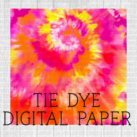 Sunset swirl Tie-dye Digital Paper