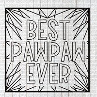 Best Pawpaw Ever coloring page