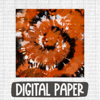 Halloween inspired tie dye digital paper