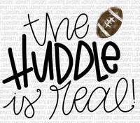 The huddle is real- football