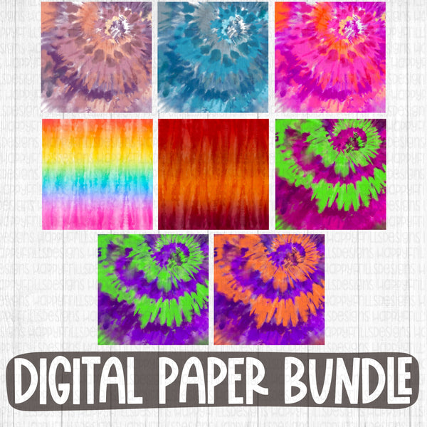 FRIYAY tie dye digital paper bundle