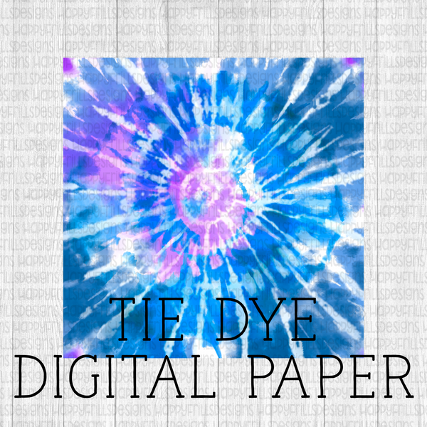 Mermaid tie dye digital paper