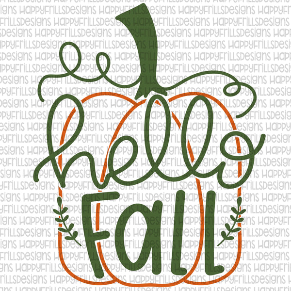 Hello Fall Simple Pumpkin