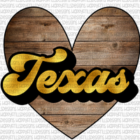 Gold & wood Texas
