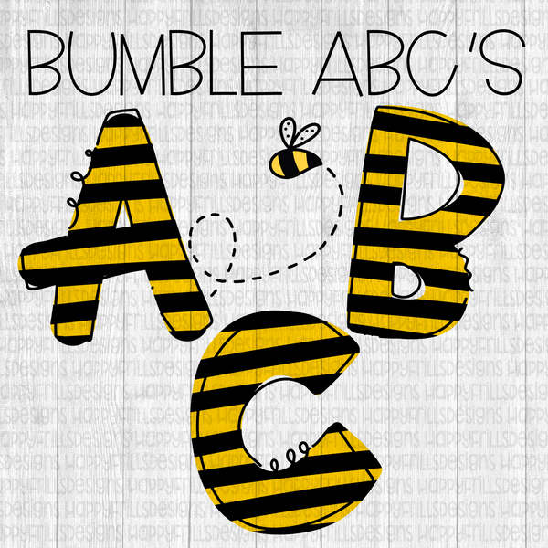 Bumble BEE alpha set 52 separate png files